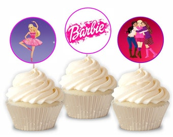 Barbie Inspire Cupcake Toppers