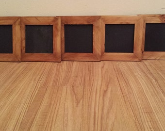 Square Chalkboard with Frame / small chalkboard / wooden chalkboard / rustic chalkboard / wedding chalkboards