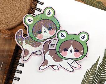 Froggy Kitty Baby Sticker