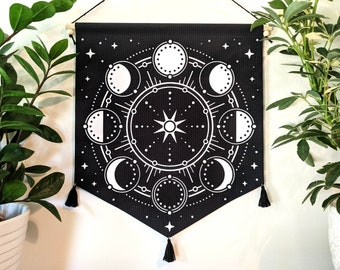 Lunar Phases Wall Banner