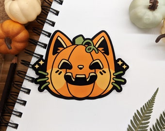 Cat-O-Lantern Sticker