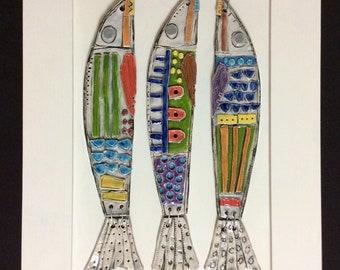 3 fish framed
