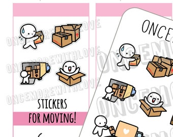 Munchkins - House Moving Planner Stickers (M411)