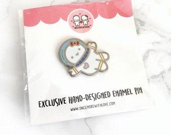 "Pin // ""Astronaut Munchkin"" Silver-Coloured Limited Edition Hard Enamel Lapel Pin (Pin - ASTRONAUT)"