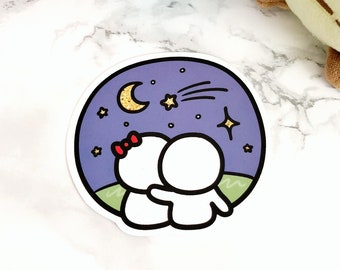 Glossy Space Themed Munchkin Vinyl Decal Sticker Die Cuts (Vinyl Die Cut - Night Sky)