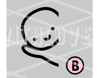 Right Side Peeking Munchkin Vinyl with NO bow - (B)