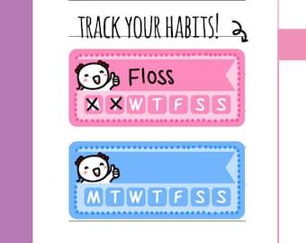 Munchkins - Habit Tracker Planner Stickers (M32)