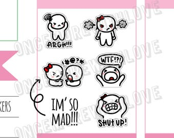 Munchkins - WTF! I'm So Mad! Planner Stickers (M284)