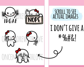 Munchkins -  I Don't Give a F*** Planner Stickers (M387)