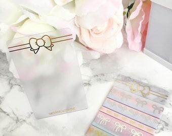 Gold Foiled Clear Plastic Washi Cards for Washi Storage or Bookmarks (WASHI CARD)