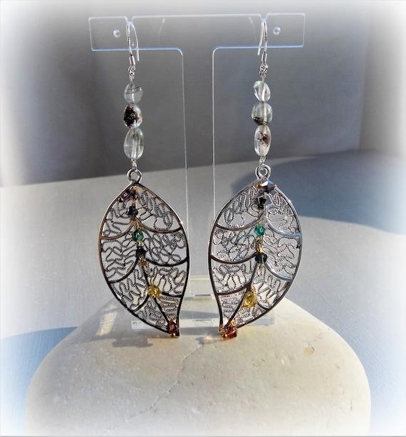 Vert Naturel Agate Handmade Solid 925 Silver vintage pendants d/'oreilles