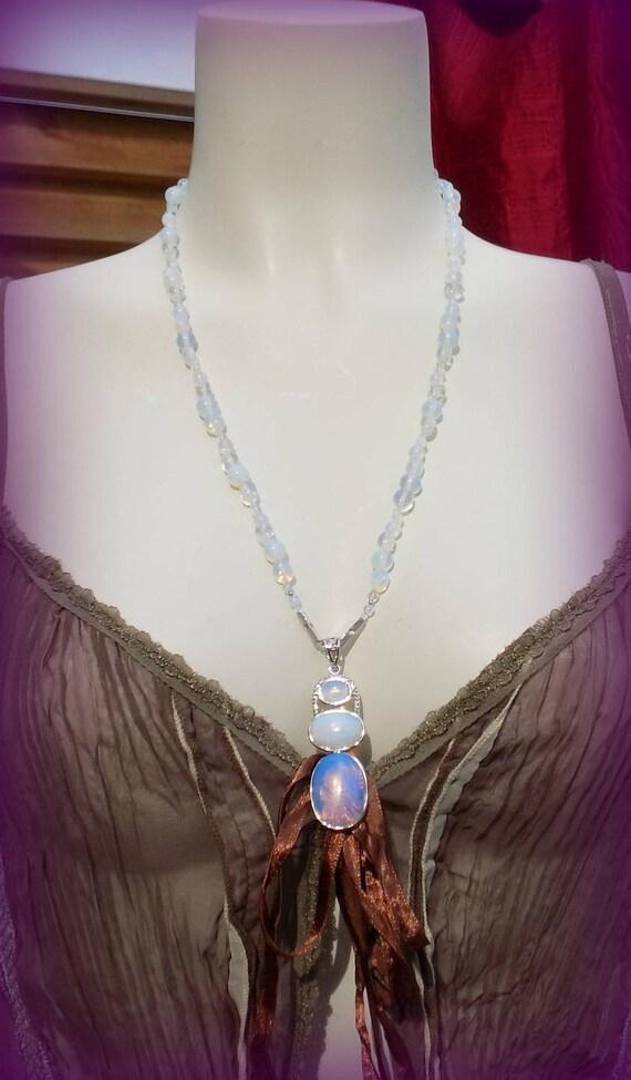 Petite Belle Quartz Rose Cristal Pendentif en argent sterling