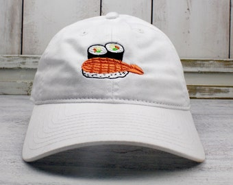 145812a6cf5 Sushi Time Dad Hat Embroidered Baseball Cap Curved Bill 100% Cotton