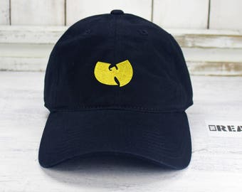 Wu Tang Logo Dad Hat Embroidered Baseball Cap Curved Bill Dad Hat 100%  Cotton Classic Hip Hop 6f7f51b49fa