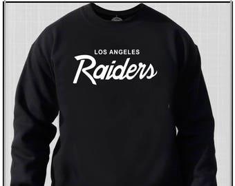 5225d420a OG Los Angeles Raiders Vintage Logo Crew Neck Sweat Shirt 80 s Retro Raider  Nation