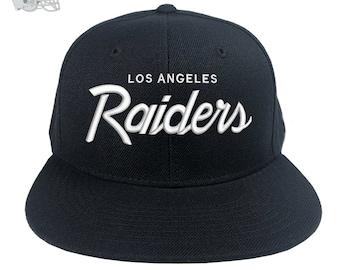 fff4e094668a61 Los Angeles Raiders Vintage Logo SnapBack Baseball Cap 80 s Retro Raider  Nation
