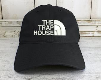 96192fbe6d3 The Trap House Logo Dad Hat Baseball Cap Lit Hip Hop