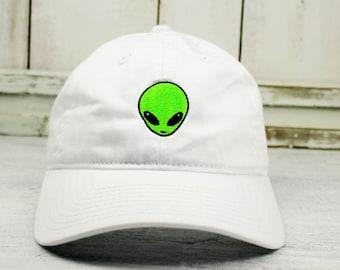 Area 51 Alien Little Green Men Dad Hat Lit Embroidered Baseball Cap Curved  Bill 100% Cotton Spaceship Mothership Mars 950f85e5de40