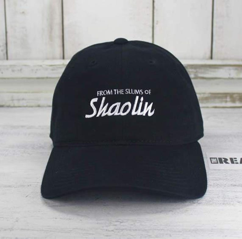 From The Slums Of Shaolin Baseball Cap Curved Bill Dad Hat  025d6e01a9b