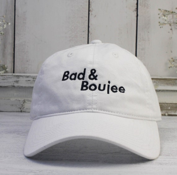 a31b790d1f4 Bad And Boujee Dad Hat Lit Embroidered Baseball Cap Curved