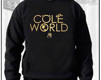 COLE WORLD CREW Neck Sweater  J Cole Dreamville Hip Hop Dj Gear