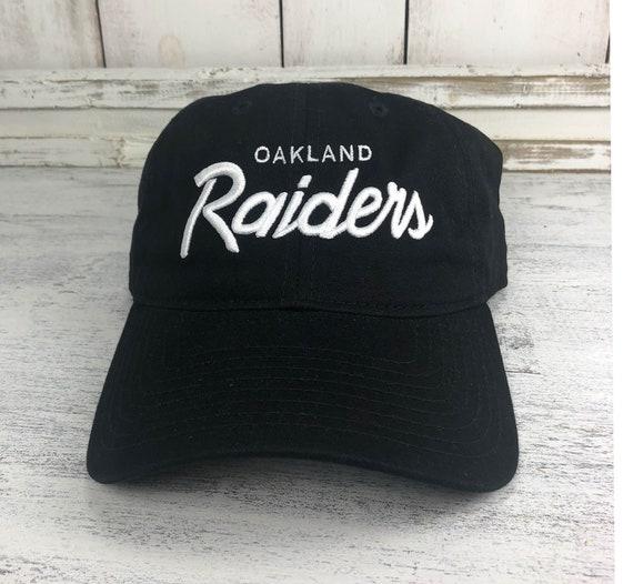Oakland Raiders Vintage Logo Dad Hat / Baseball Cap 80's Retro Raider Nation