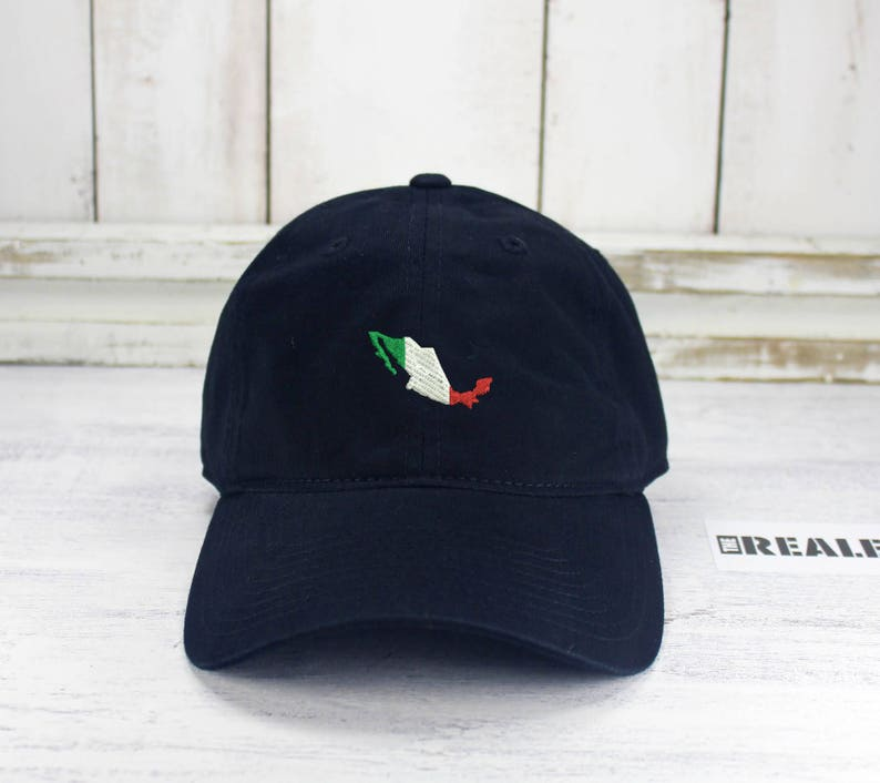 10ecbeb3 Mexico Lindo Dad Hat Embroidered Curved Bill Baseball Hat 100% | Etsy