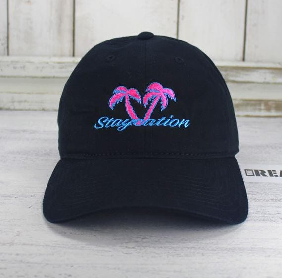 Staycation 80 s   90 s Retro Style Dad Hat Embroidered  c04f89dba0ae