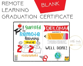 Personalised I Survived 2020 Certificate