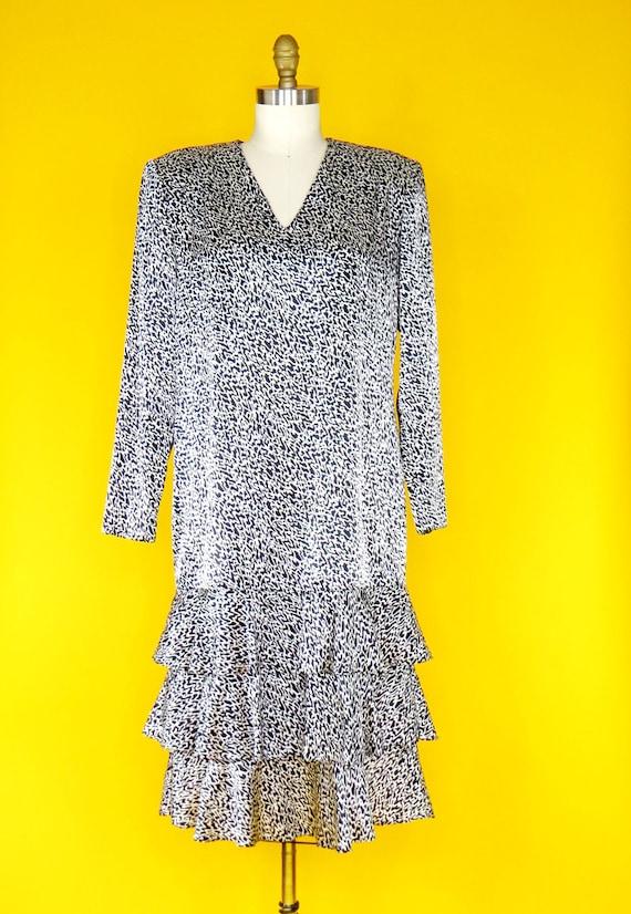 1980s Vintage Charmeuse Dress - image 1