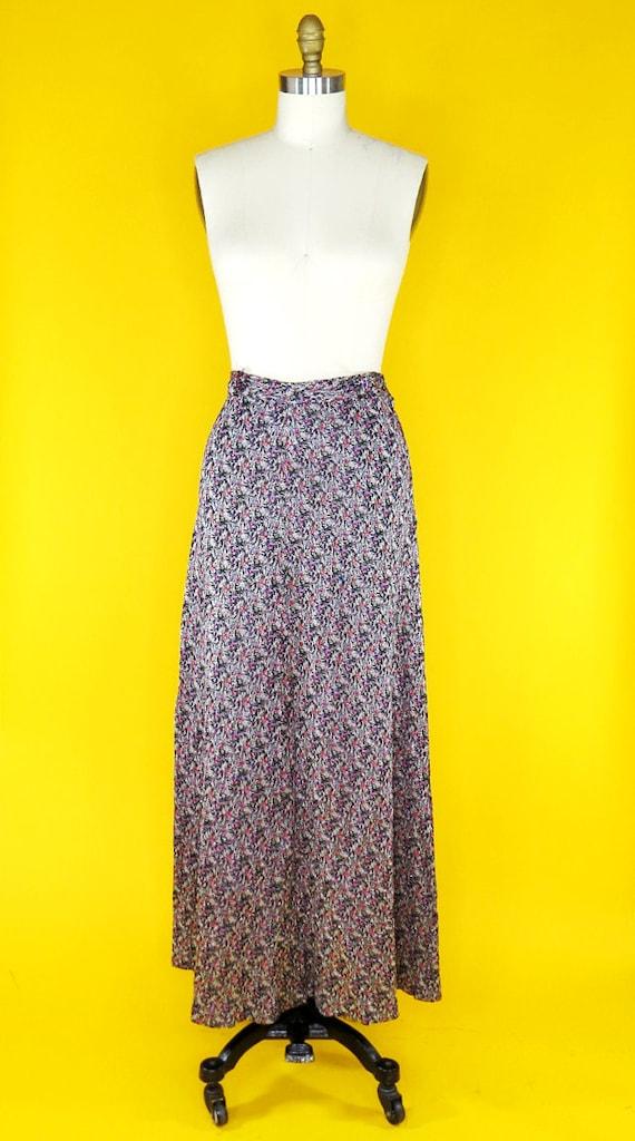 Vintage 1970s Glitter Maxi Skirt