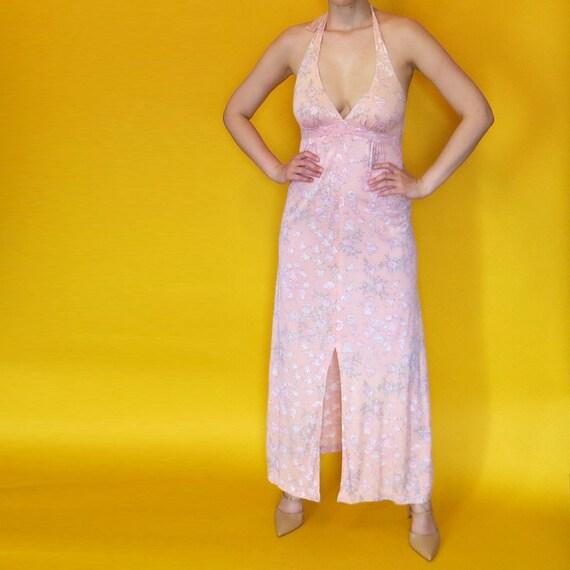 1970s Vintage Peace Dove Halter Dress - image 2