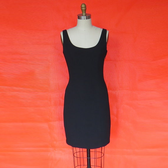 1990s Vintage Layered Pearl Back Shift Dress