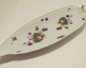 NORCREST Sweet Violet Relish Dish