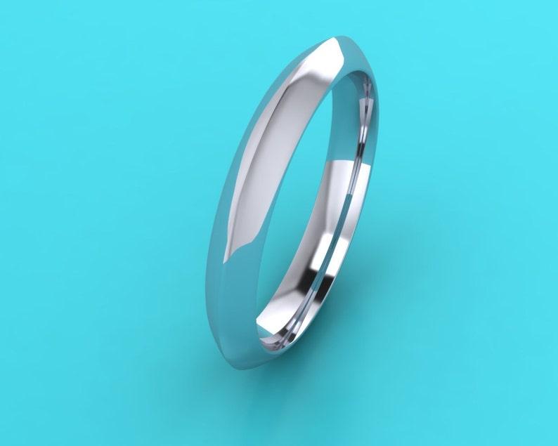 Platinum 3mm Knife Edge Wedding Band Platinum Wedding Ring Etsy