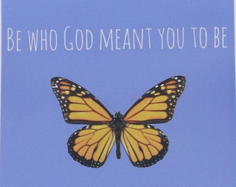 """5.5"""" X 4"""" Magnet """"Be Who God Meant You to Be"""" - St. Catherine of Siena"""
