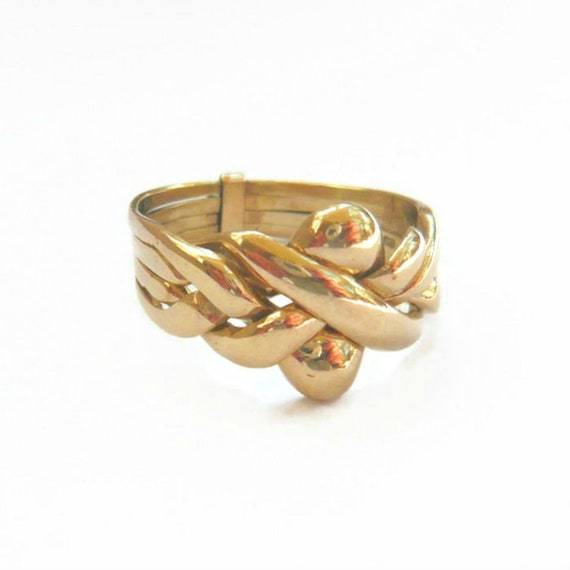 VINTAGE 9ct Gold Puzzle Ring | Gold Puzzle Ring |
