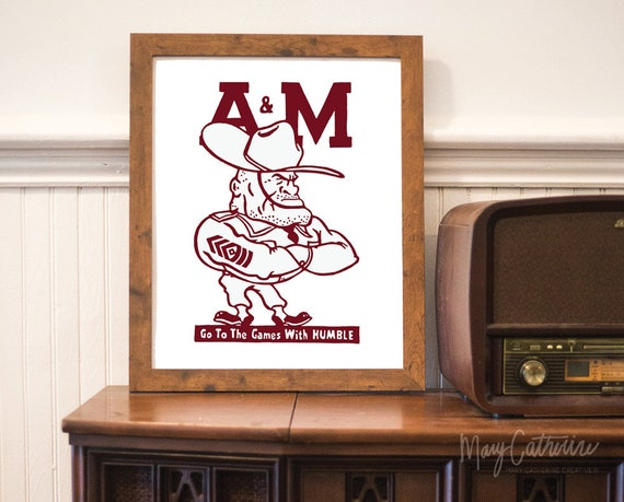 Texas A M Aggies Painting Etsy