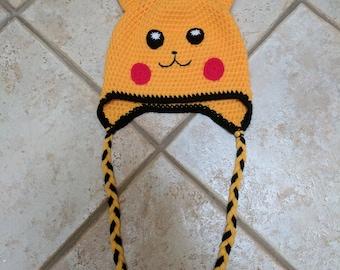 Pikachu crochet hat/short spirit hood
