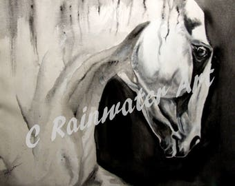 "Acryic painting By C Rainwater. "" Death Horse"""