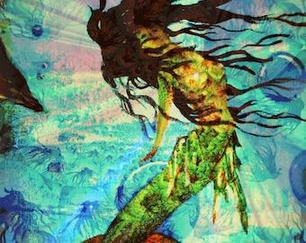 Cyrenna the Mermaid By C Rainwater. Ditgital Down load