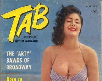 Tab Magazine August 1961 Digest Size PIN-UP GIRLS Mature