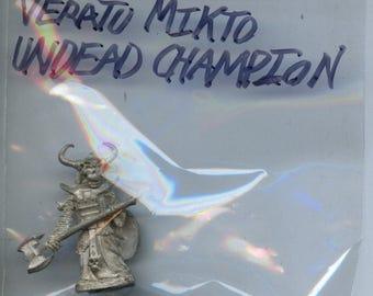 RAFM Shadow and Steel 2004B Veratu Mikto Undead Champion Pewter Miniature