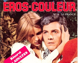 "Eros-Couleur N 9L""homme et la Fugitive Magazine 70's French VG+ Mature"