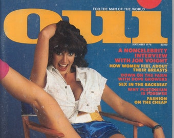 Oui Magazine September 1978 Very Good+ condition Mature