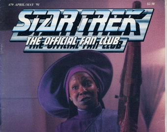 Star Trek the official Fan Club Magazine #79 April May 1991 VG