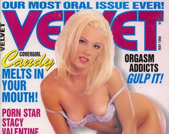 Velvet Magazine May 1998  Excellent condition Mature Stacey Valentine Nici Sterling