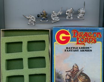 Grenadier 1603 Battle Lords Dwarves Army of the Gold Mountains Box X5 Metal Miniatures