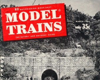 model trains Model Railroading Made Easy magazine March 1961 Very Good Condition