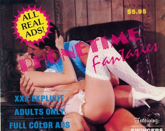 phonetime Fantasies Adult Contact Magazine V1 N1 Excellent condition Mature